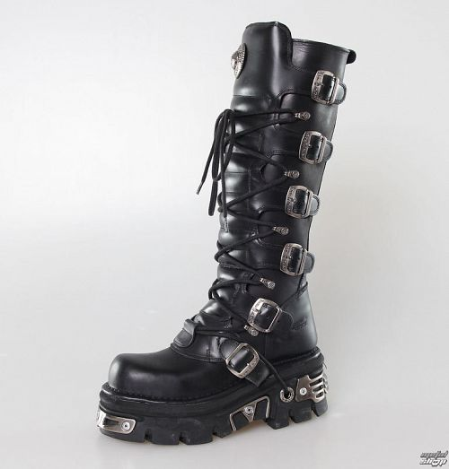 Topánky New rock - 6-Buckle Boots (272-S1) Black - N-8-08-700-00
