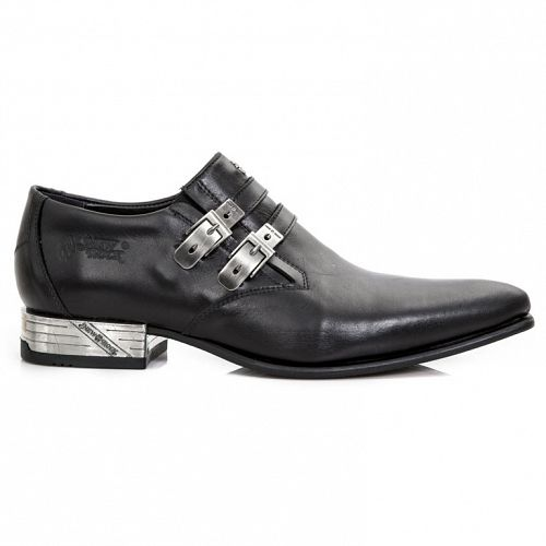 topánky NEW ROCK - ANTIK PULIDO-NEGRO, VIP1 NEGRO - M.2246-S5