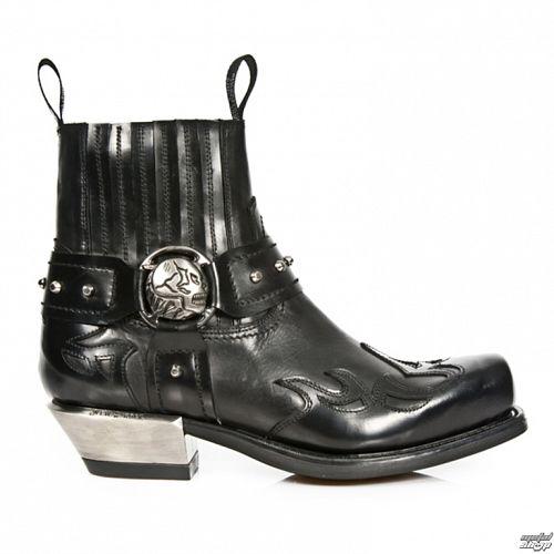 topánky NEW ROCK - ANTIK WEST NEGRO Cuadrado - M.7966-S1