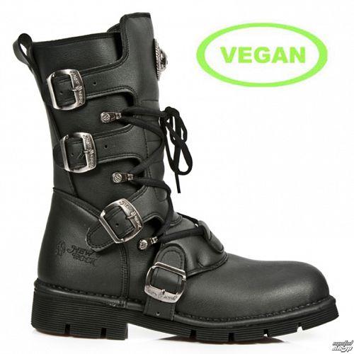 topánky NEW ROCK - VEGAN planing NEGRO SIN - M.1473-V1