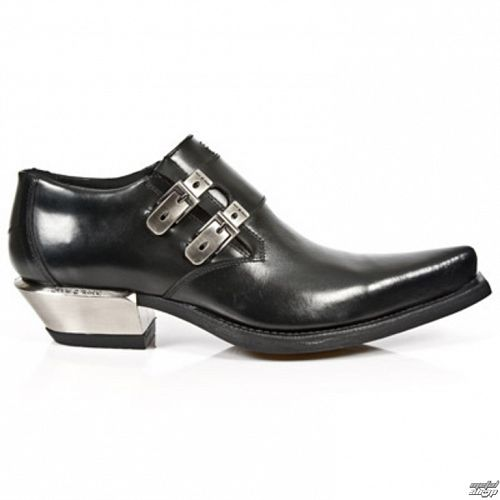 topánky NEW ROCK - WEST NEGRO-ACERO Taçon - M.7934-S1