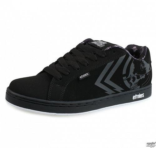 topánky pánske ETNIES - Metal Mulisha - Fader - BLACK/WHITE - 10041931