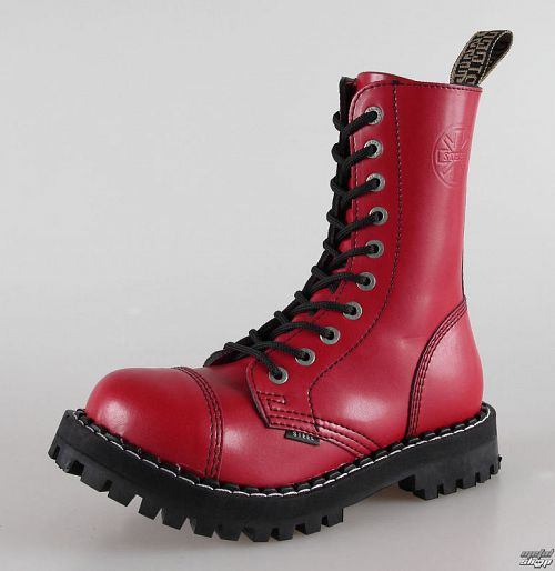 topánky STEEL - 10 dierkové červené pestré (105/106 Full Red)