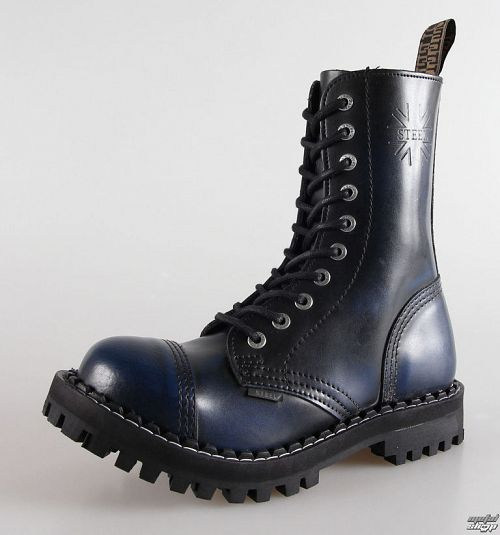 topánky STEEL - 10 dierkové modré (105/106 Blue)