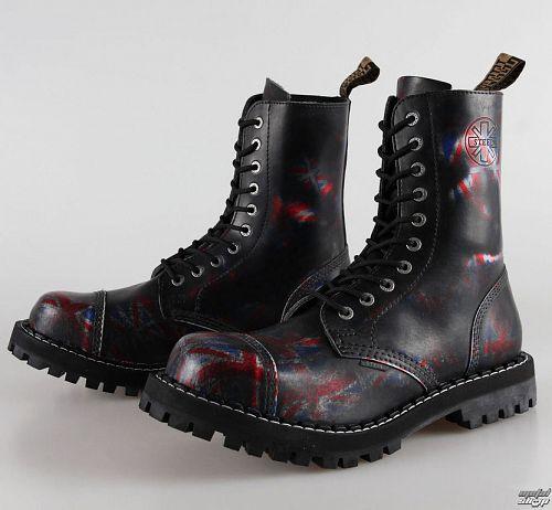 topánky STEEL - 10 dierkové Union Jack Black ( 105/106 Uk Black )