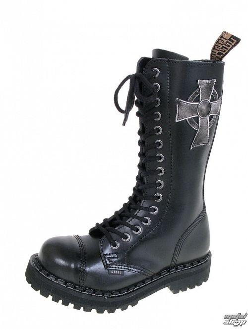 topánky STEEL - 15 dierkové - 135-136 0 BLACK CROSS .