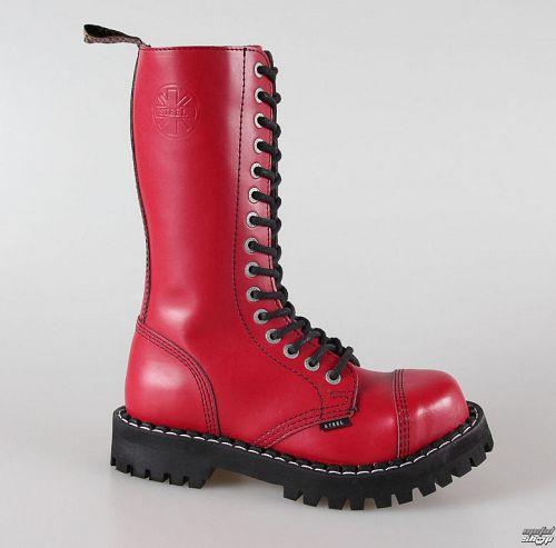 topánky STEEL -15 dierkové červené pestré (135/136 Full Red)