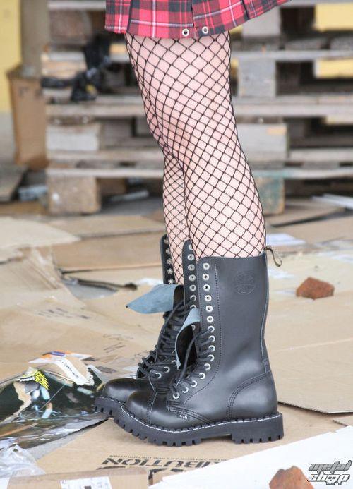 topánky STEEL - 15 dierkové čierne (135/136 Black)