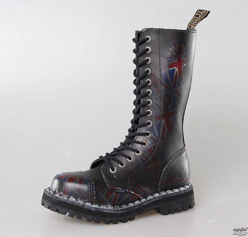 topánky STEEL -15 dierkové Union Jack Black (135/136 UK Black )