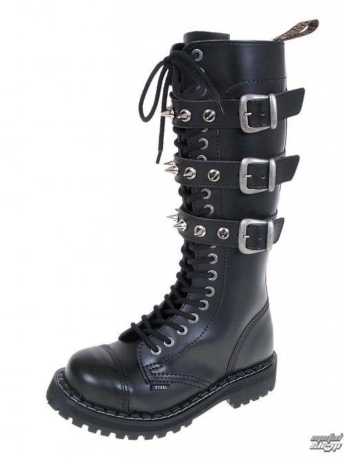 topánky STEEL - 20 dierkové - 139-140 0 BLACK 3P SPIKES