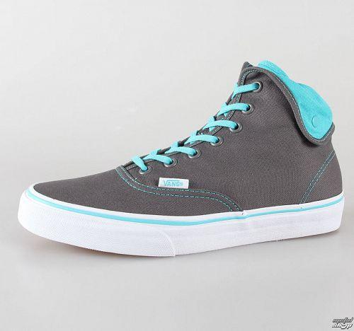 topánky VANS - U Authentic Hi 2 - pewter/scuba blue - VUC190T