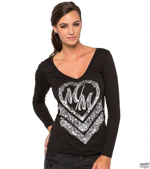 tričko dámske s dlhým rukávom METAL MULISHA - Cross My Heart - BLK