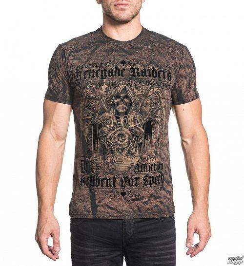 tričko pánske AFFLICTION - Renegade Speed - BWSW - A18469