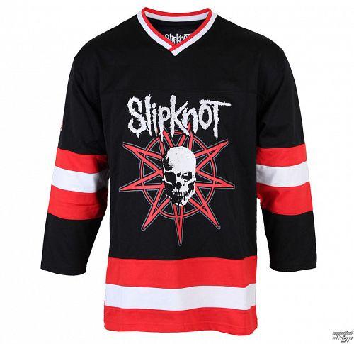 tričko pánske (dres) s 3/4 rukávom Slipknot - Skull Hockey - BRAVADO - 15092237