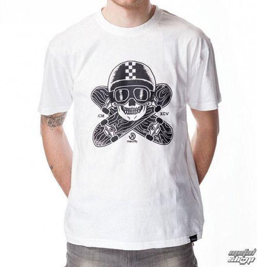 tričko pánske MEATFLY - EASYRIDER A - White
