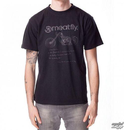 tričko pánske MEATFLY - WISHLIST B - Washed Black