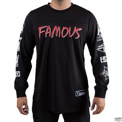 tričko pánske s dlhým rukávom (dres) FAMOUS STARS & STRAPS - Raised On Rap - Black