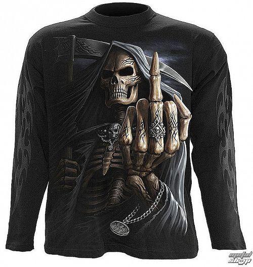 tričko pánske s dlhým rukávom SPIRAL - Bone Finger - WM 112700