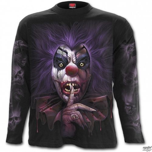 tričko pánske s dlhým rukávom SPIRAL - MADCAP - Black - K041M301