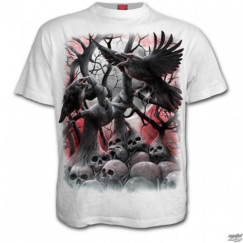 tričko pánske SPIRAL - DARK ROOTS - White - D069M113