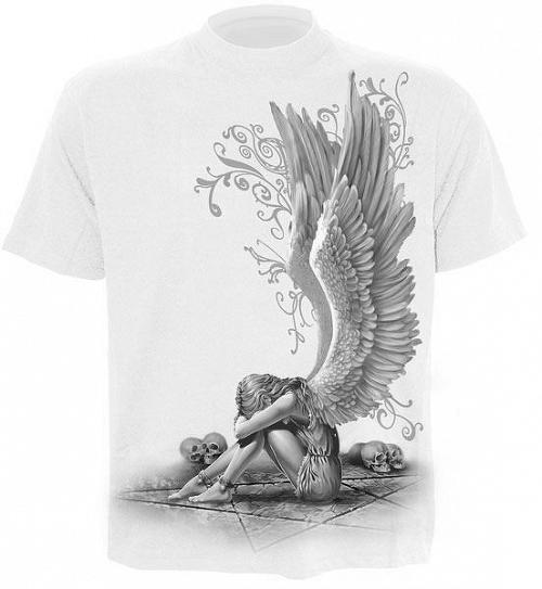 tričko pánske SPIRAL - Enslaved Angel - White - DT195619