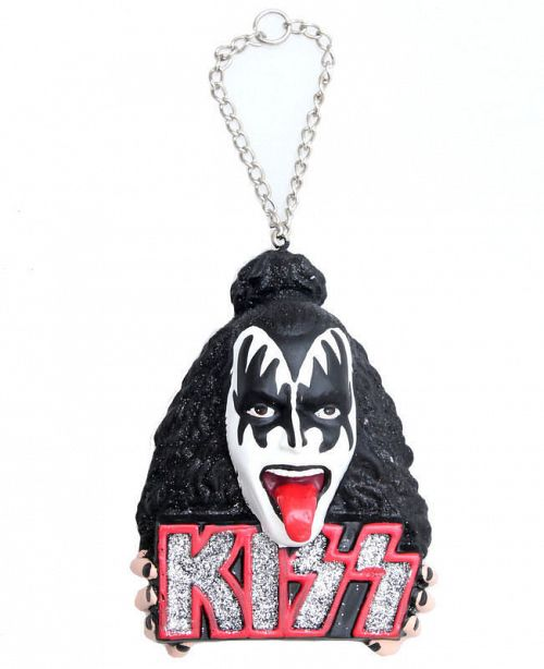 vianočné výzdoba KISS - Demon Head Ornament - ROCK OFF - KS2105