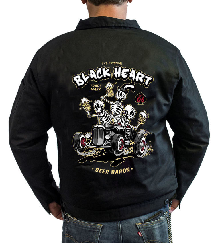 bunda pánska BLACK HEART - BEER BARON - BLACK - 006-0010-BLK  8aaeb71a1ae