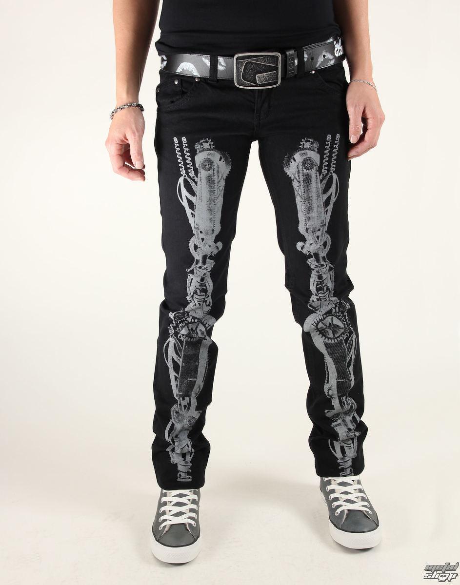 7095329fdaaf nohavice dámske 3RDAND56th - Steam Punk Skinny Jeans - JM1025