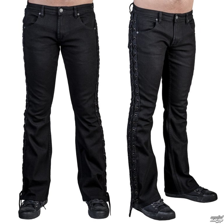 nohavice pánske (jeans) WORNSTAR - Hellraiser - Black Denim - Black - WSP- 5fc5c8381e