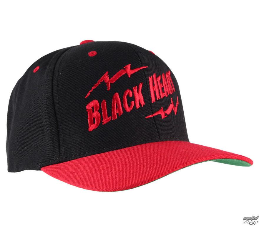 f814aba31 šiltovka BLACK HEART - Snap Back - Blk/Red - BH019 | Rock fashion