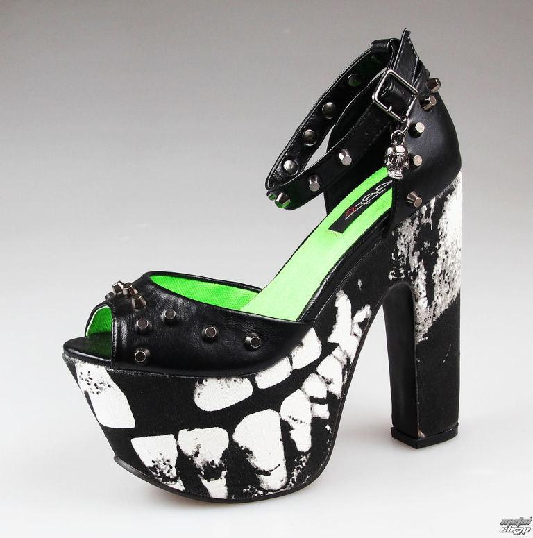 04c2e9a90621 topánky dámske -črievice- IRON FIST - Loose Tooth Super Platform - BLACK