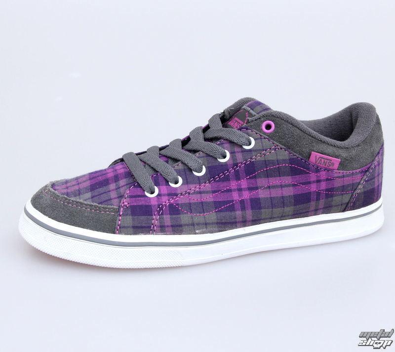 topánky dámske VANS - Skyla - Plaid - Grey   Purple - VKXK6B1  429cb15a9c5