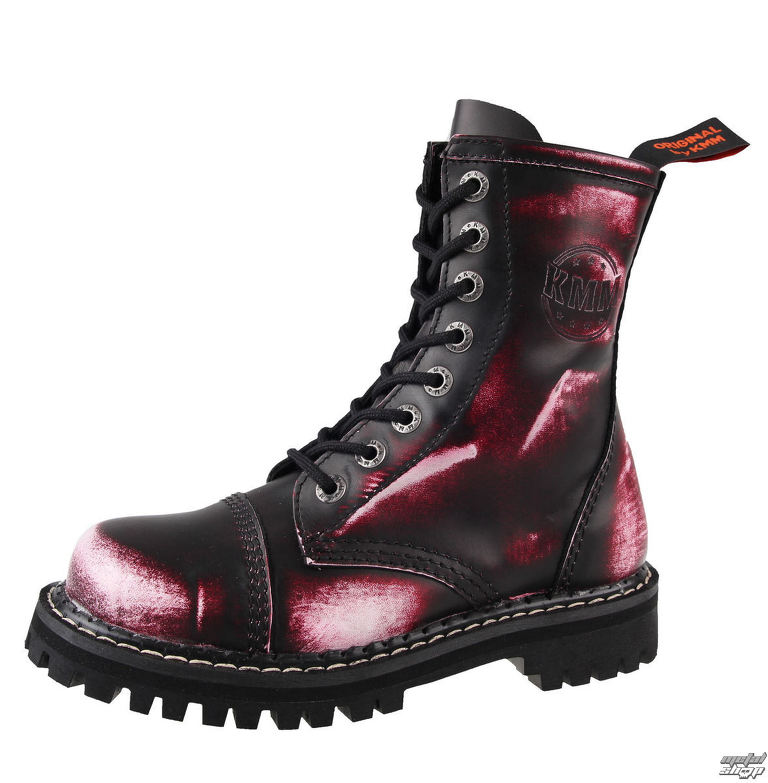 8958846a92152 topánky KMM 8 dierkové - Vampire Red - 080 | Rock fashion