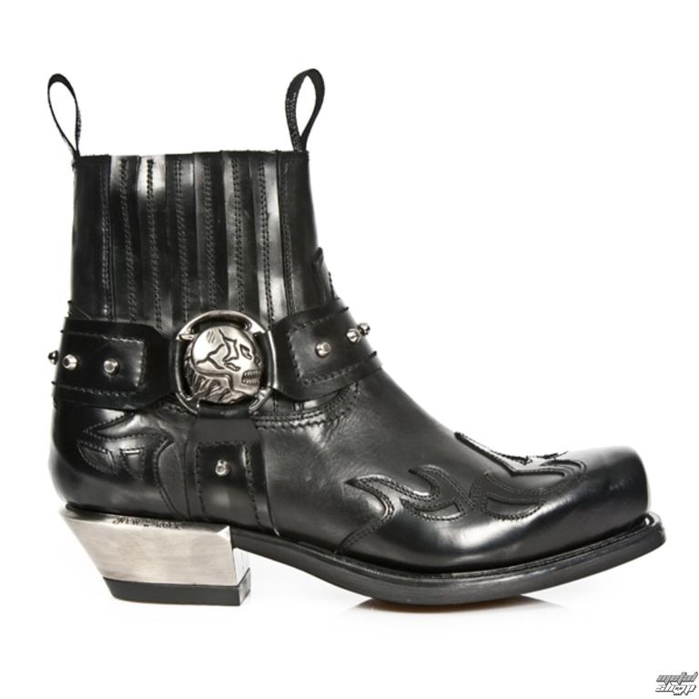 442d650f1d3a topánky NEW ROCK - ANTIK WEST NEGRO Cuadrado - M.7966-S1