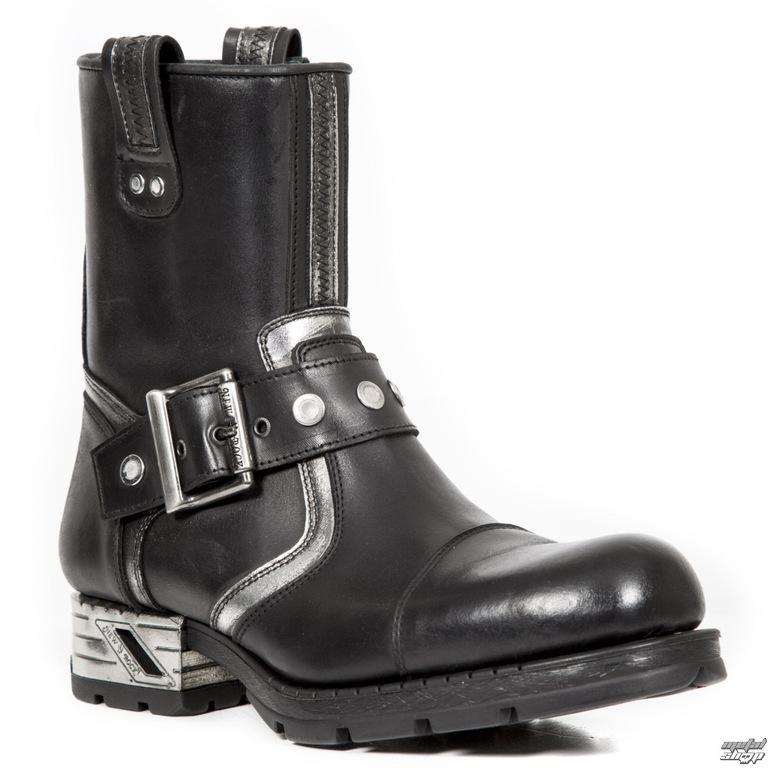 1954ce638549 topánky NEW ROCK - Itali Negro - Box Plane - Piel Vivo Negro - M ...