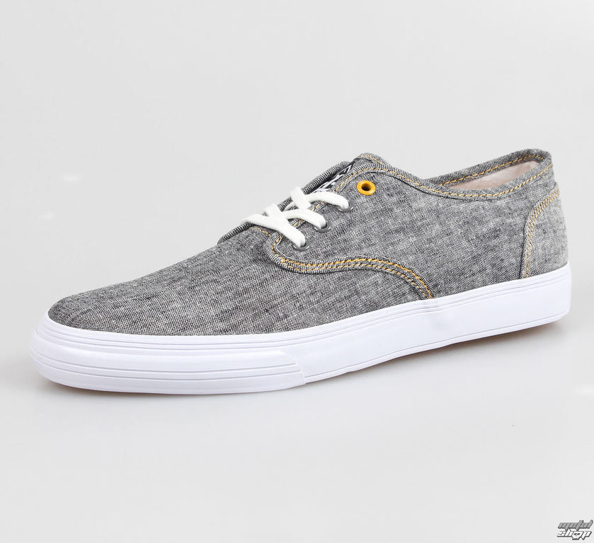topánky pánske IRON FIST - The Winston Vucanized Sneaker - Charcoal Grey  Chambray White 14eae1da427