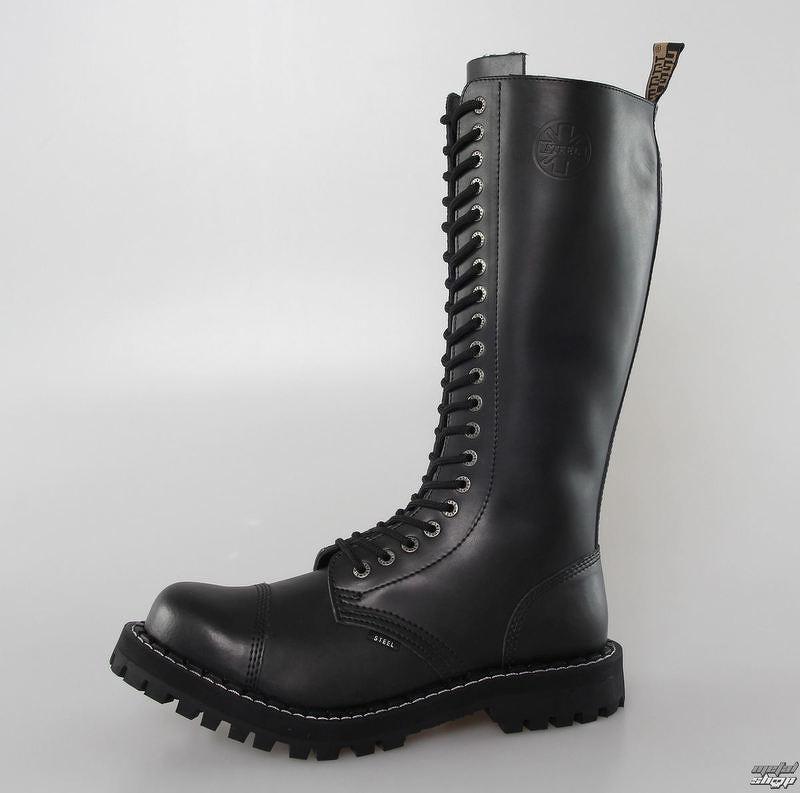 topánky STEEL - 20 dierkové - Black  2721f19715