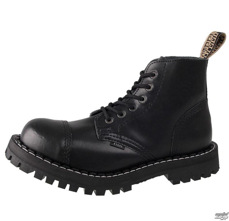 2a3237b70b870 topánky STEEL - 6 - DIERKOVÉ -127,128/0 - BLACK | Rock fashion