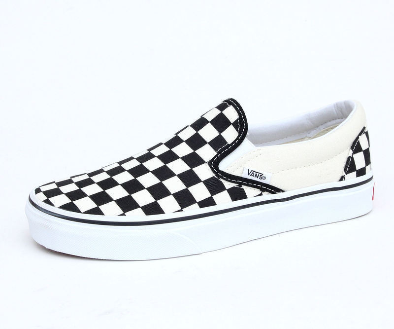 77d31e575bd0c topánky VANS - Classic Slip On - Black And White Checker - White - VEYEBWW