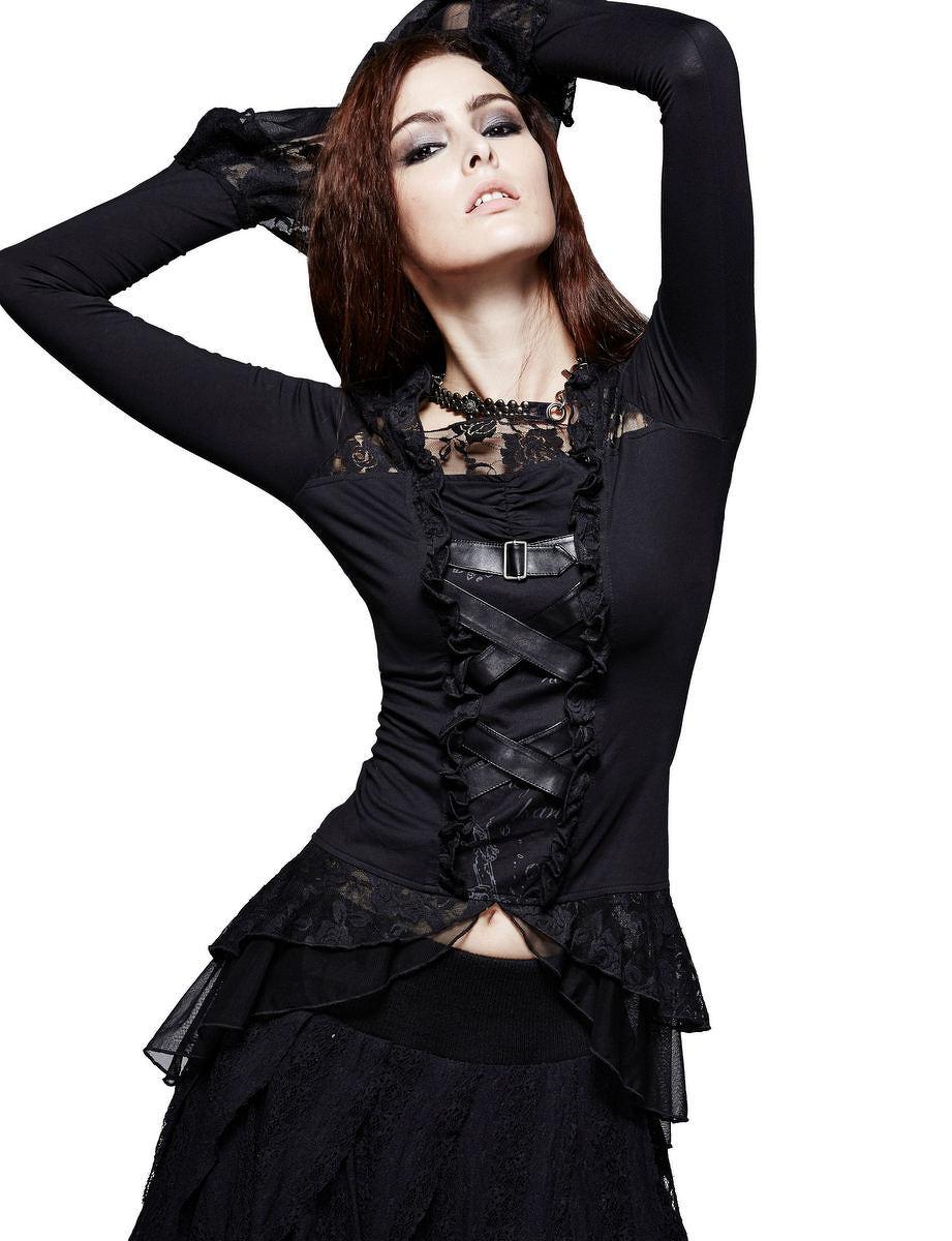 3086376a9200 tričko dámske s dlhým rukávom PUNK RAVE - Nocturna - T-189