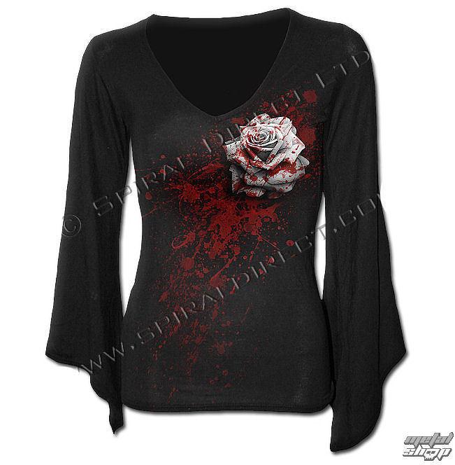 tričko dámske s dlhým rukávom SPIRAL - White Rose - DW199292  074edc26bf2