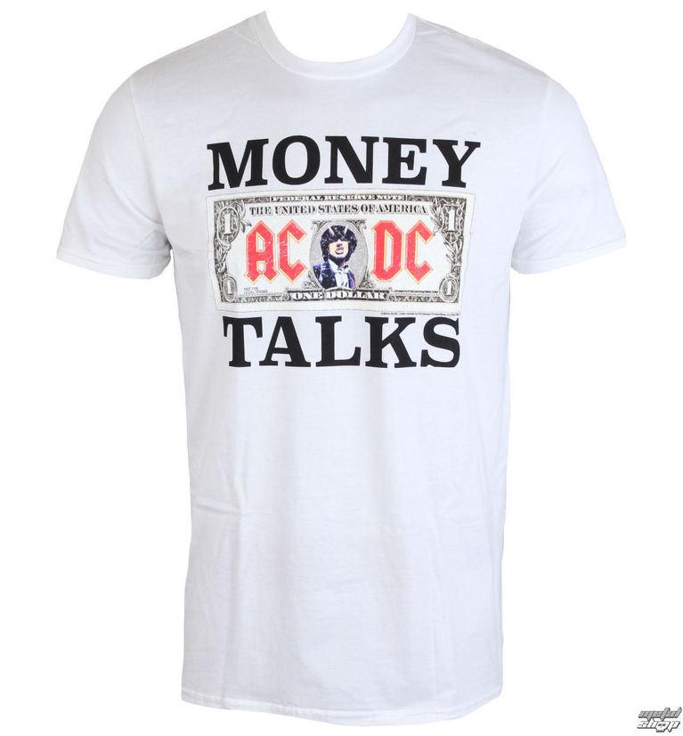 tričko pánske AC DC - Money Talks - LOW FREQUENCY - White - WACTS050014 31f75581bfc