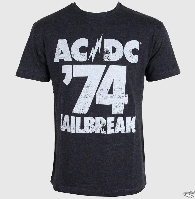 25e3c2a8b8a tričko pánske AMPLIFIED - AC DC - Tour 74 Faded - Black - ZAW260A74 ...