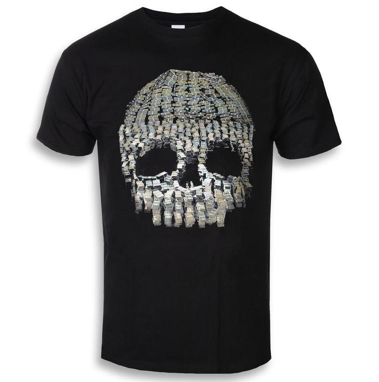 tričko pánske Anti Flag - Money Skull - Black - KINGS ROAD - 20111069 771cf1b51c3