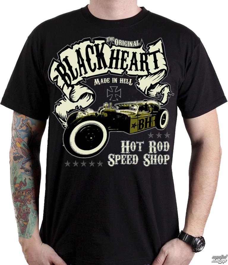 48e0c9f054 tričko pánske BLACK HEART - BANDIT - BLACK - 001-0060-BLK