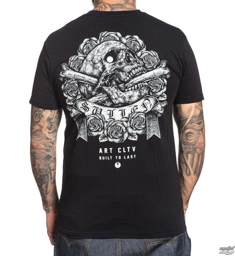 774411737481 tričko pánske SULLEN - STIPPLE SKULL - BLACK - SCM1411 BK